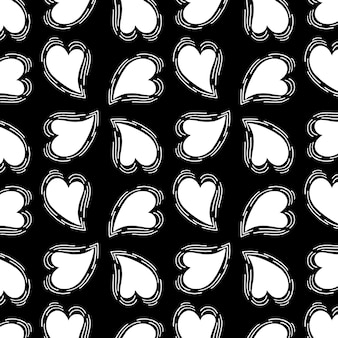 黒と白のバレンタインパターンの背景