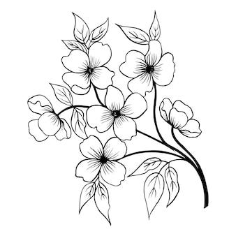 手描きのバレンタインの花の花束