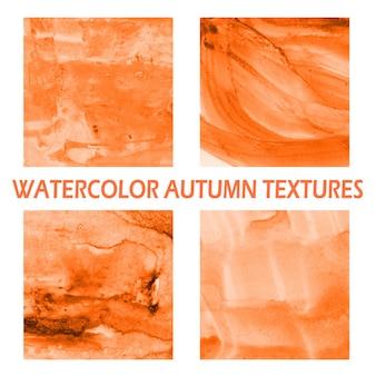 秋の水彩の背景