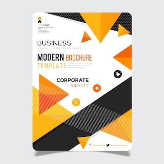 ビジネスパンフレットのテンプレートデザイン