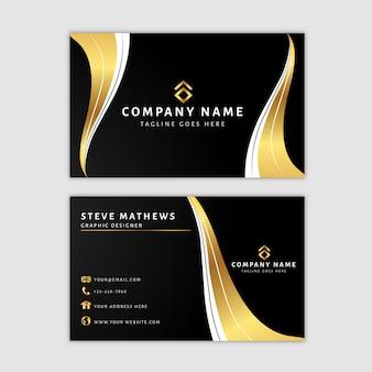 Премиум золотой шаблон визитной карточки
