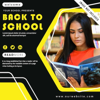 学校へ戻るポスター