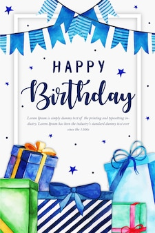 お誕生日おめでとうパーティーポスター