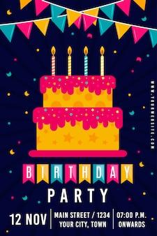 Векторный плакат с днем рождения