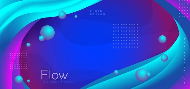 Мемфис абстрактный синий фон