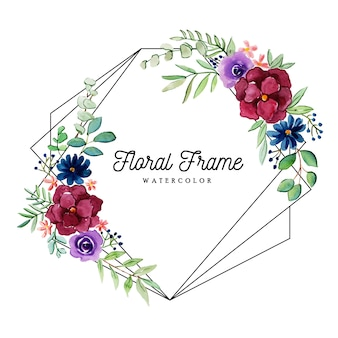 Красивая акварель цветочная рамка