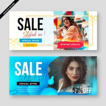 Современный аннотация продажа баннер плакат