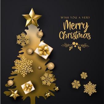 Черный фон с рождеством