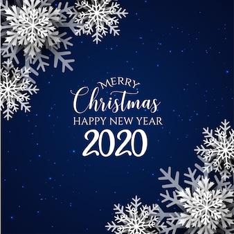 Синий фон с рождеством