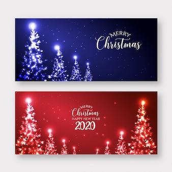 Счастливого рождества баннер