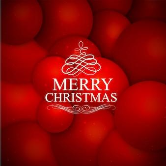 Красный фон с рождеством