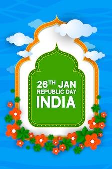 Плакат с днем республики в индийском фестивале