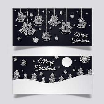 クリエイティブクリスマスバナーデザイン