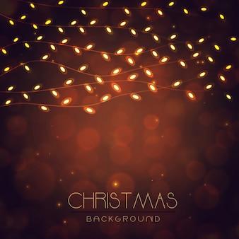 Элегантные рождественские фоны с эффектом освещения