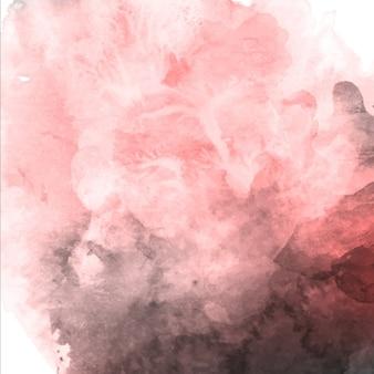 水彩バレンタインピンクと灰色の背景