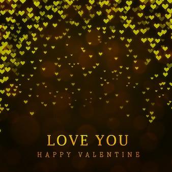 エレガントなバレンタインの背景と照明効果