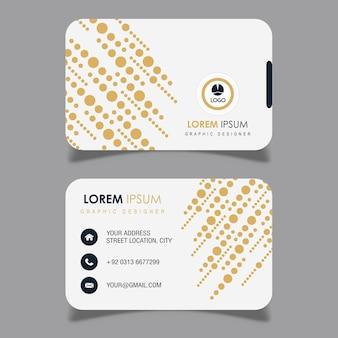 Абстрактная и элегантная визитная карточка