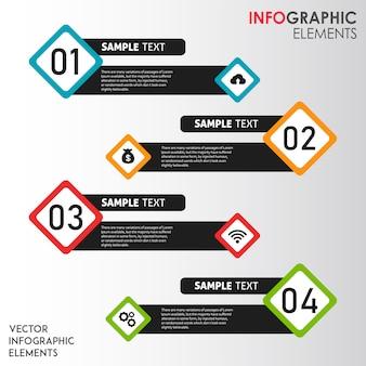 Красочные векторные инфографические рисунки