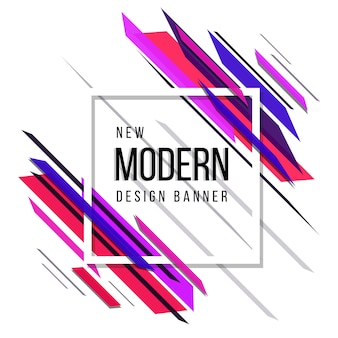 Розовый и синий новый современный абстрактный баннер