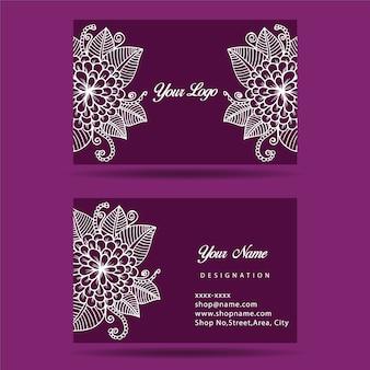 Фиолетовая визитная карточка