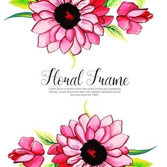 Акварельная цветочная рамка многоцелевой фон
