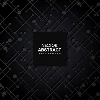 Черный векторный абстрактный фон