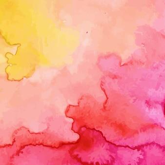 異なる色の水彩の背景