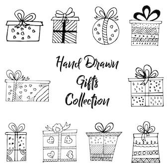 Коллекция рисованных подарков