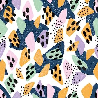 Абстрактная безшовная картина в модных цветах.