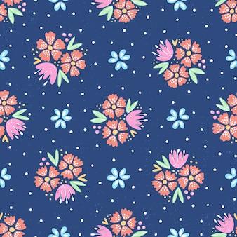 チョークの花柄
