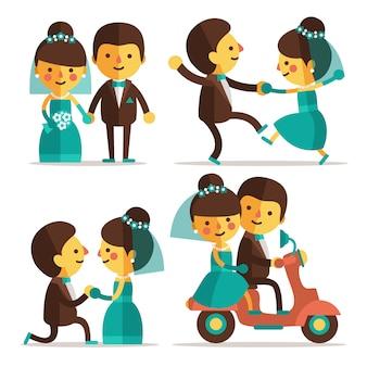 結婚式のカップルの設計