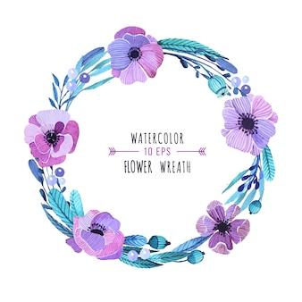 花の花輪のデザイン