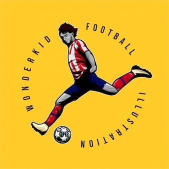 ワンダーキッドサッカーのロゴイラスト