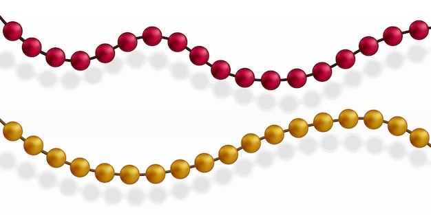 Разноцветные бусы. красивая цепочка разных цветов.