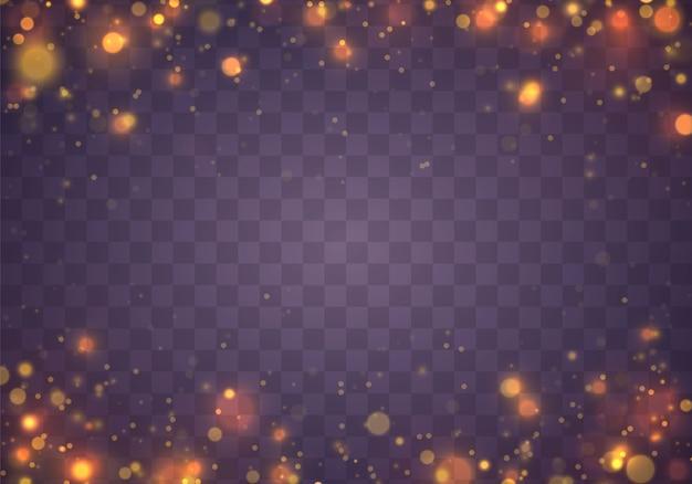クリスマスのお祝いの紫と金色の明るい背景。