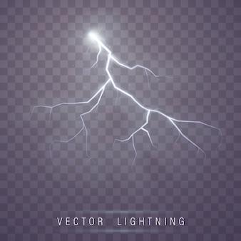 Вспышка молнии. магия молнии и световые эффекты.