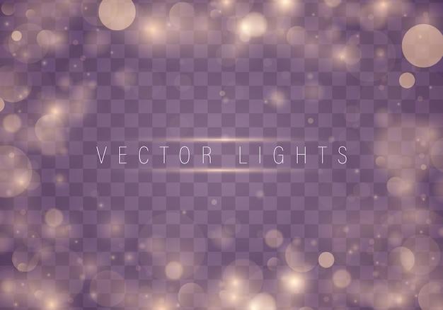 光の抽象的な光るボケ味が点灯します。クリスマス。