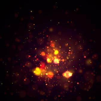Расфокусированным круговой золотой роскошный блеск огни боке.