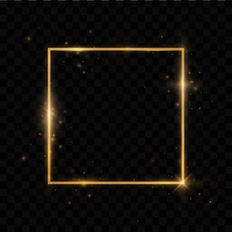 Золотая рамка со световыми эффектами