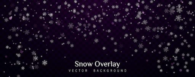 Падающий новогодний снег, снежинки, сильный снегопад