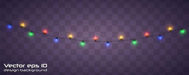 クリスマスのあかり。クリスマス輝く花輪。
