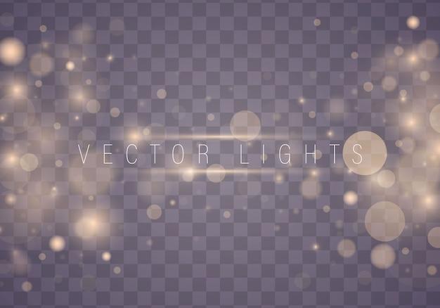 Легкие абстрактные светящиеся огни боке. рождественская концепция