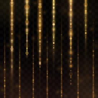 キラキラ光る発光粒子。