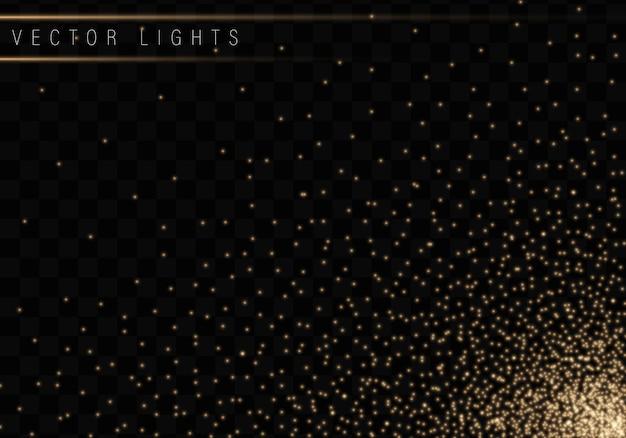 クリスマスの輝く透明な背景に分離