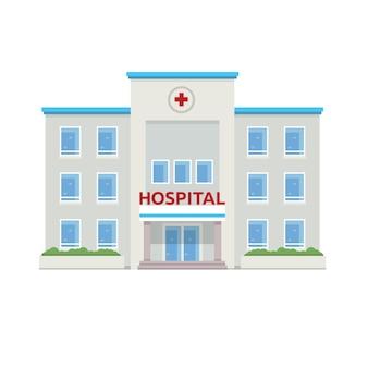 «плоская иллюстрация здания больницы»