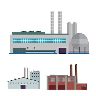 Комплект современного промышленного завода и складского логистического здания