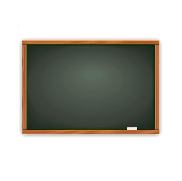 空白の学校の黒板黒