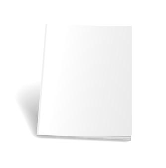 空の空の雑誌または本の表紙