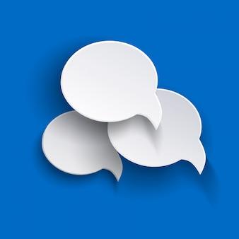 Векторные абстрактные пузыри речи