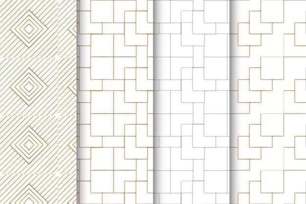 創造的な抽象的な幾何学的なシームレスパターンセット